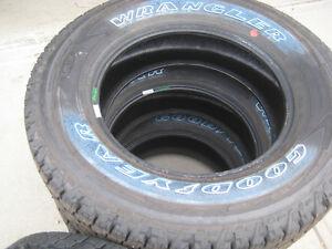 NEW Goodyear Kevlar wrangler AllTerrain LT275/70R18 tires E load