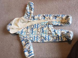 3-6m Fleece Bunting Suit