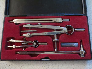 Very nice professional drafting compass set made in Germany