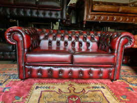 Oxblood Chesterfield 2 Seater