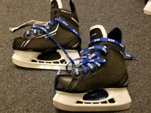 Various hockey skates