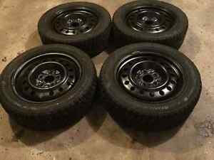 225 55 17 studded tires on 5x127 rims with sensors