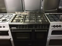 Silver 90cm gas cooker