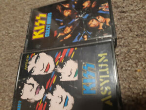 KISS - asylum and crazy nights cassettes