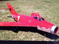 RC LANDER MIG17 Polycarbonate covered 90mm EDF RC plane
