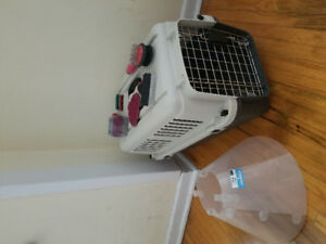 Dog cage + accessories $60 for all OBO