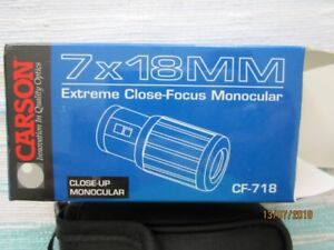 Carson Monocular 7x18mm Close Focusing