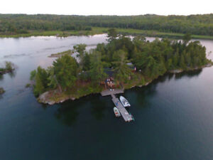 PikeValley Cottage on beautiful private island in McGregor Bay.