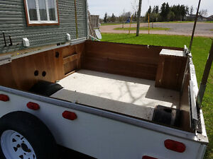 Converted pop-up to cargo trailer
