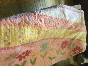 Two beautiful pottery barn quilts.
