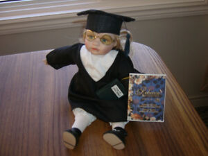 Rebecca Collection Musical Graduation Gift Porcelain Doll