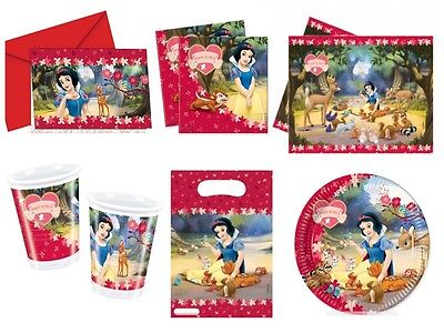 Party Supplies - Tableware & Decorations - Select Item (Snow White Birthday Party Supplies)