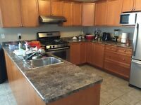 Kitchen counter, sink and Faucet for sale.