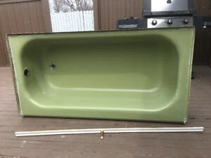 Green bath tub