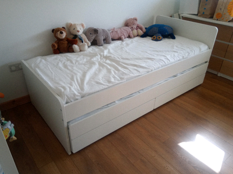 Ikea Slakt Bed With Underbed Storage And Mattresses In Surrey Quays London Gumtree