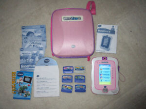 Pink innotab 2 with case 6 games