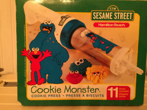 Sesame Street Cookie Monster Cookie Press Hamilton Beach 1998