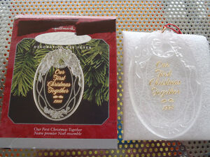 "Glass Hallmark ""Our First Christmas Together 1998"" Ornament"