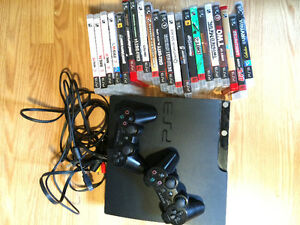 Playstation 3, 2 controllers, 21 games