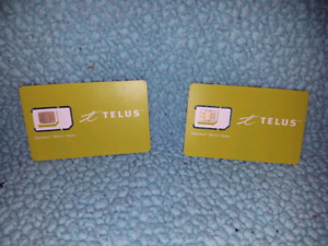 Unused Telus SIM cards
