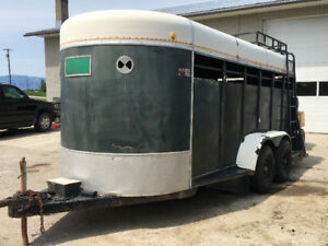 Keen 14' Horse Trailer. New floor, wiring and tires.