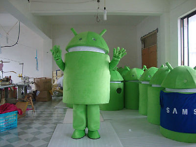 Advertising Promotion New Android Robot Mascot Costume Fancy Dress Adult Size New Mascot Costume