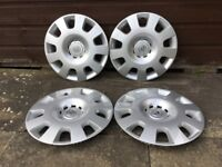 "Set of 4 genuine Vauxhall 15"" wheel trims/covers."