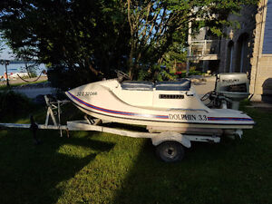 seadoo with a 30 hp outboard engine