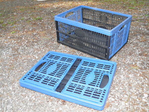 Collapsible Folding Crates for Tools and Packing
