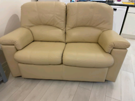 SOLD STC Leather 2 seater sofa David Phipp
