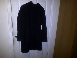 Women's Large Le Chateau Hooded Coat 60% wool