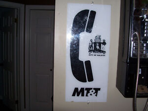 Vintage City of Halifax MT&T Phone Booth Sign