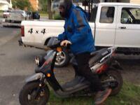 Yamaha zuma (bws) 70 échange contre vtt ou 1000$