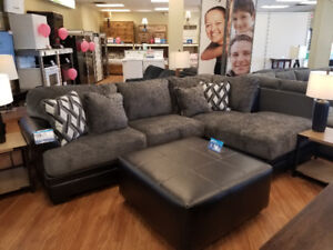 Ashley Furniture Kumasi Sectional with Ottoman NEW