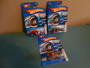 Hot Wheels Bone Shaker Lot of 3 Gold FTE Wheels First Editions