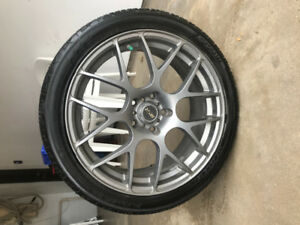 235/40r18     4 tires and rim included in price