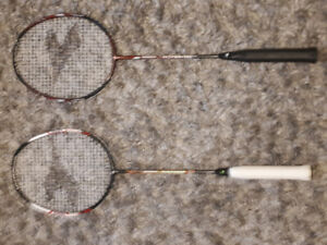 two BADMINTON RACKETS like-new condition