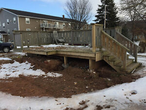 Pressure treated deck for sale