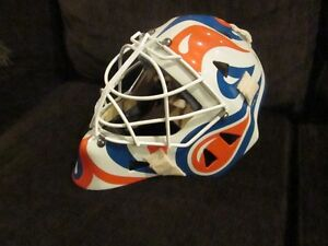 Eddy Custom Kevlar Goalie Mask with Oilers Paint Job