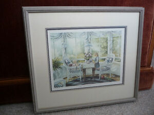 "Framed Limited Edition Print - ""The Tea Party"" By Trisha Romance"