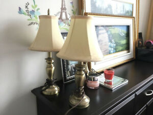 Two table lamps like new perfect for bedside