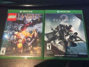 Destiny 2 and Lego:The Hobbit for XBox One