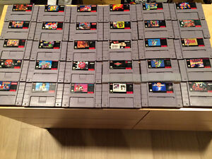 SNES Games: Super Mario, Street Fighter, Simpsons, Final Fight