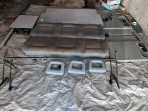 Vanagon Z-bed with side fold-up table GREY colour