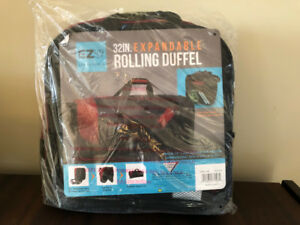 """Travelers Club 32"""" Collapsible Rolling Duffel"""
