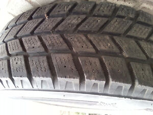 Winter Tires- with rims- in great shape.. No more sliding on ice