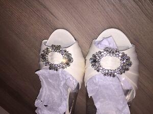 Nina New York Bridal Shoes Ivory, Never Worn, Size 10 - $100 OBO