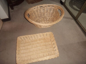 three wicker baskets, all in perfect condition.. 8.00 for all (3