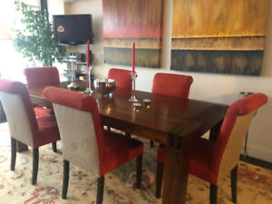 Maison Corbeil-NDG Dining Table w/ 8 chairs