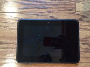 Kindle fire tablet with charger